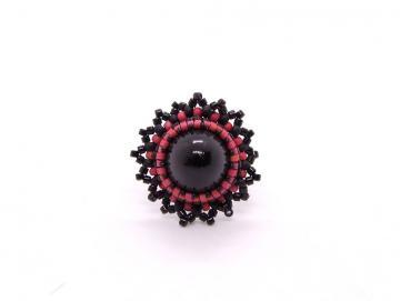Ring Schwarz Rot