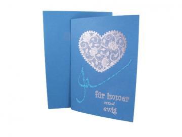 Hochzeitskarte Florales Herz