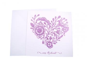 Hochzeitskarte Herz pink