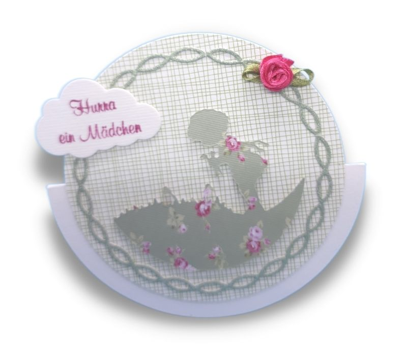 Schaukelkarte Blumenmädchen